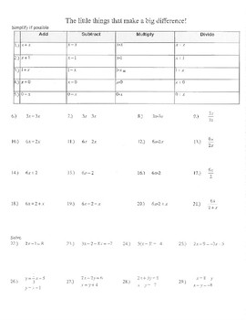 NEW SAT MATH PREP little things that make a big difference algebra mistakes