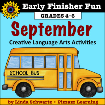 NEW! SEPTEMBER EARLY FINISHER FUN • BACK-TO-SCHOOL