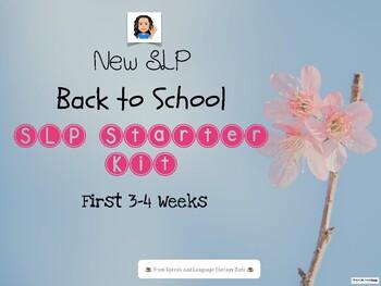 NEW SLP: BACK TO SCHOOL SLP STARTER THERAPY KIT