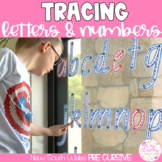 NEW SOUTH WALES PRE-CURSIVE Write & Wipe Alphabet and Numbers Set