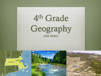 NEW SS4G1 Geography Man-Made/Physical GSE 2018 Unit Perfect for GoogleClassroom