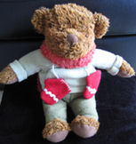 NEW STUFFED BROWN TOY TEDDY BEAR mascot christmas winter theme decoration