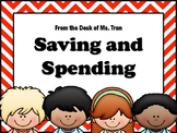 NEW  Saving and Spending Task Cards (TEKS 2.11B FINANCIAL LITERACY)