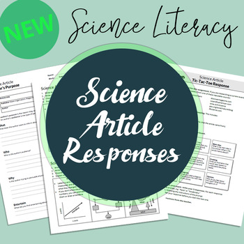 NEW! Science Article Response Worksheets