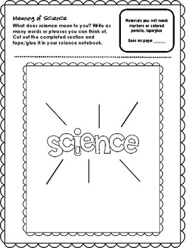 NEW  Science Interactive Notebook STARTER PACK Over 30 ready-to-go pages!