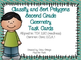 NEW Second Grade Geometry 2D Shapes Task Cards 2.8C, 2.G.A.1