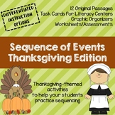 NEW! Sequence of Events Thanksgiving Edition (Sequencing)