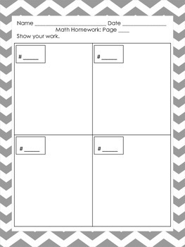 NEW  Show Me Your Math Thinking Sheets