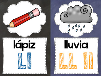 NEW Spanish Alphabet Cards and Alphabet Chart