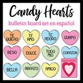 NEW! Spanish Valentine's Day Candy Hearts Bulletin Board set
