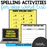 Spelling Activities for Any List   Printable & Digital Spe