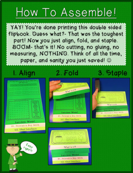 NEW St. Patrick's Day DOUBLE-SIDED Flipbook!