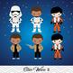 NEW Star Wars Digital Clip Art, BB8, Rey, Finn, Kylo Ren,0227