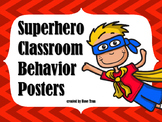 FREEBIE Superhero Behavior Posters