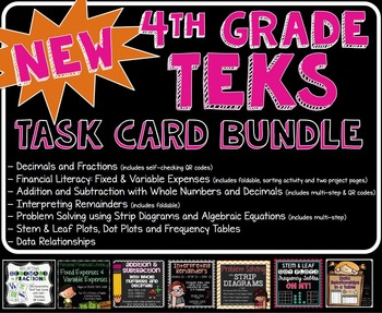 TEST PREP: Math Task Card Bundle