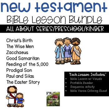 NEW TESTAMENT Bible Lesson Bundle All About Series