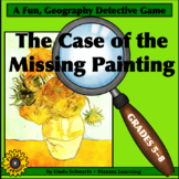 NEW! THE CASE OF THE MISSING PAINTING • U.S. MAP READING SKILLS