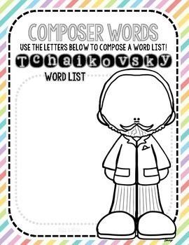 NEW! Tchaikovsky, English, Spelling, Christmas Activities, Winter, December