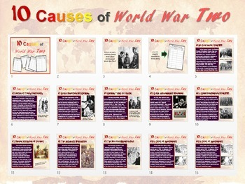 NEW!  Ten Causes of World War Two - engaging 25-slide PPT and graphic organizer