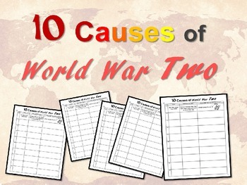 NEW!  Ten Causes of World War Two - engaging 25-slide PPT