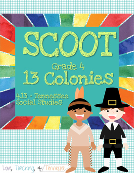 NEW Tennessee Social Studies - 13 Colonies Scoot 4.13