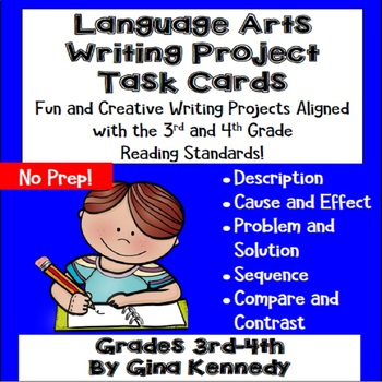 3rd & 4th Grade Reading Project Task Cards!  36 Standards Aligned Projects!