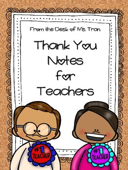 **FREEBIE**  Thank You Notes for Teachers & Volunteers