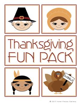 Thanksgiving Activity Fun Pack