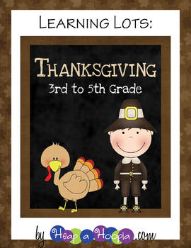 NEW Thanksgiving Games and Activities for Third, Fourth and Fifth Grades