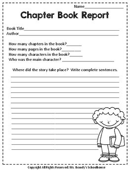 NEW Two Chapter Book Reports