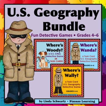 U.S. Geography Bundle • GRADES 4–6 • • 3 Sets • SAVE! •
