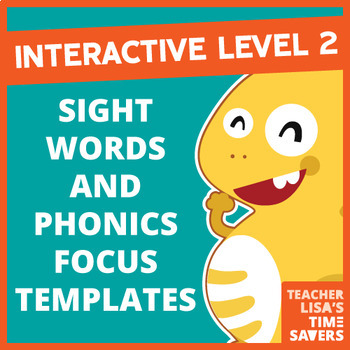 NEW VIPKid INTERACTIVE Level 2 Sight Words and Phonics Focus Templates