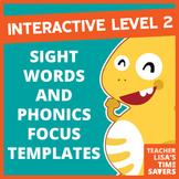 NEW VIPKid INTERACTIVE Level 2 Sight Words and Phonics Foc
