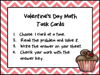 NEW  Valentine's Day Math Task Cards GREAT VALENTINE'S DAY ACTIVITY