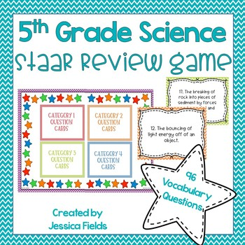 5th Grade Science STAAR Review Game! Vocabulary Edition by ...
