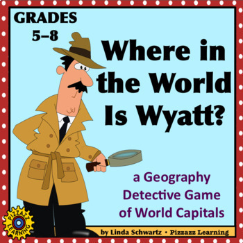 WHERE IN THE WORLD BUNDLE?  • 3 Geography Detective Games