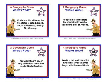 NEW! WHERE'S WADE? • A U.S. Geography Game • GRADES 4–6