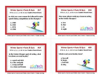 WINTER SPORTS • FACTS & QUIZ • GRADES 4–6