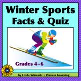 NEW! WINTER SPORTS • FACTS & QUIZ • GRADES 4–6