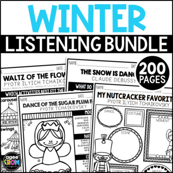 NEW! Winter Bundle, The Nutcracker, Winter Classical Music, December, Activities