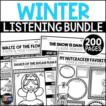 Winter Bundle, The Nutcracker, Classical Music, Christmas, December, Activities