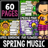 Spring Music Bundle!  Listening Activities for March, April, and May!