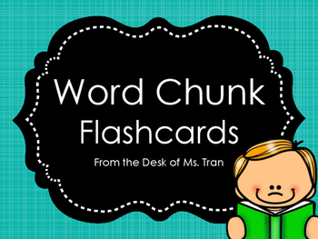 NEW  Word Chunk Flashcards GREAT FOR GUIDED READING! OVER