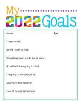 NEW YEARS RESOLUTION 2018 TEMPLATES, BUNDLE  12 PAGES, NEW YEARS 2018 ACTIVITIES