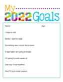 NEW YEARS RESOLUTION 2019 TEMPLATES, BUNDLE  12 PAGES, NEW YEARS ACTIVITIES 2019
