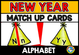 NEW YEAR ACTIVITIES (ALPHABET LETTERS MATCH UP GAME)