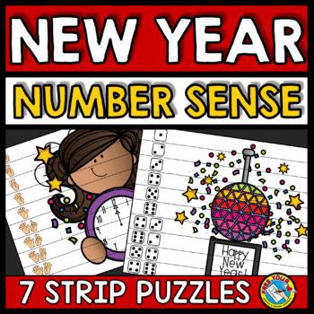 NEW YEAR ACTIVITIES KINDERGARTEN (NUMBER SENSE CENTER PUZZLES)