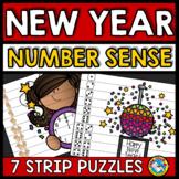 NEW YEAR ACTIVITIES 2019 KINDERGARTEN (NUMBER SENSE CENTER PUZZLES)
