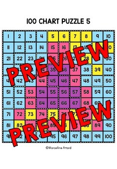 NEW YEAR ACTIVITY 2019 KINDERGARTEN (100 CHART MYSTERY PICTURE PUZZLES)