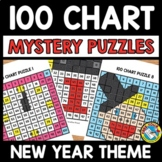 NEW YEAR ACTIVITY KINDERGARTEN (100 CHART MYSTERY PICTURE